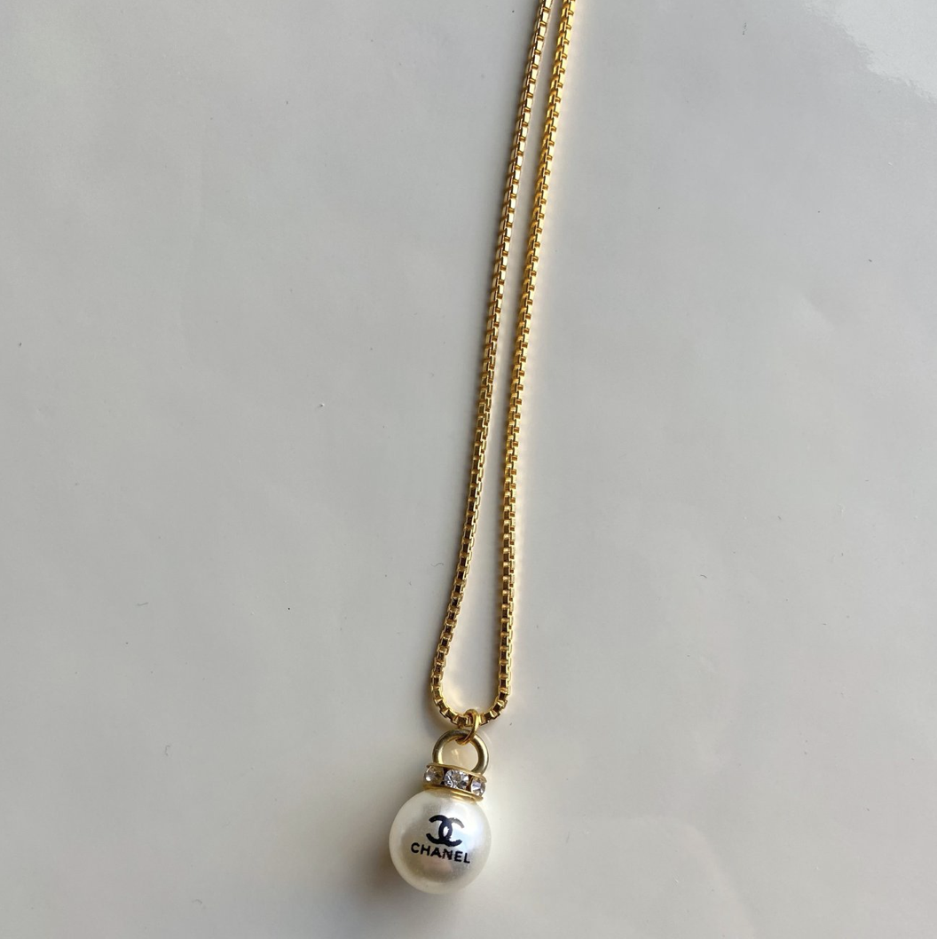 Repurposed Chanel Pearl Necklace