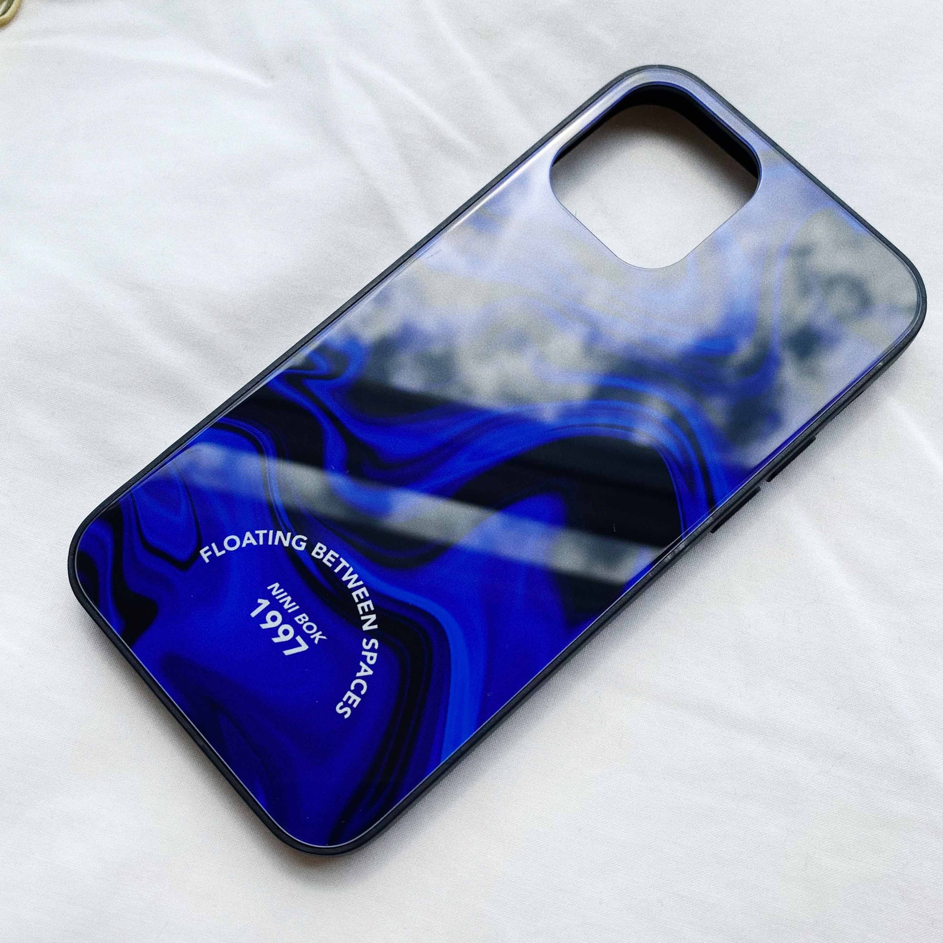 BLUE ELECTRIC TEMPERED IPHONE CASE