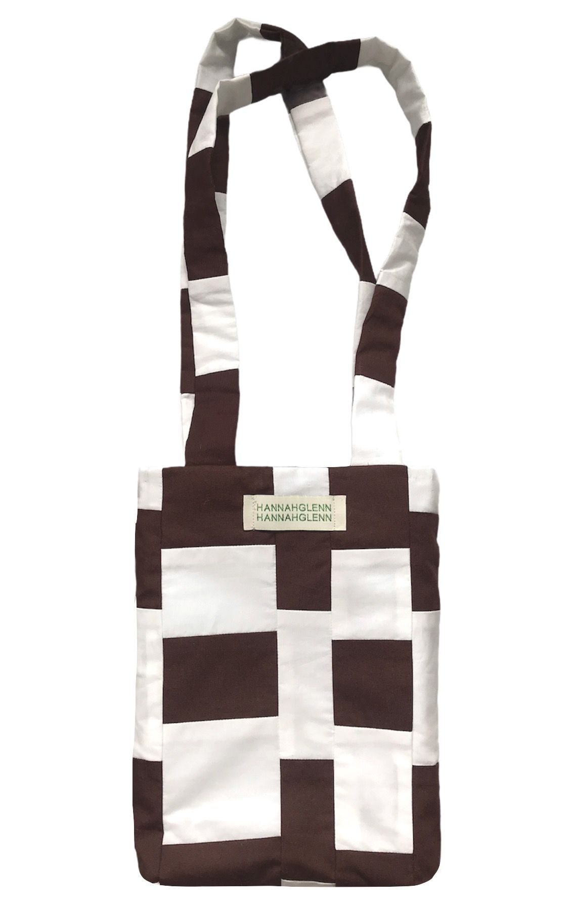 Brown and Ivory Patchwork Bag