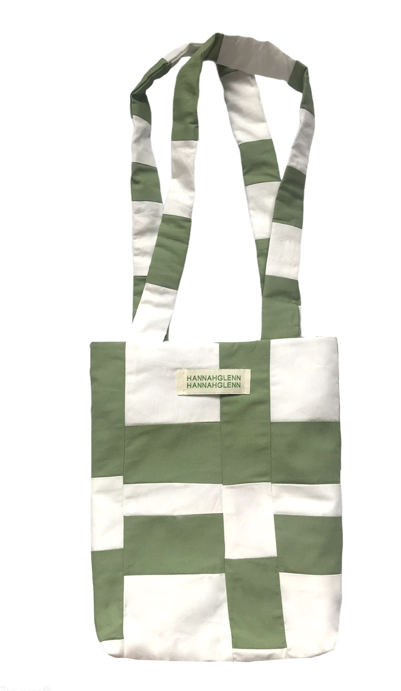 Sage Green and Ivory Patchwork Bag