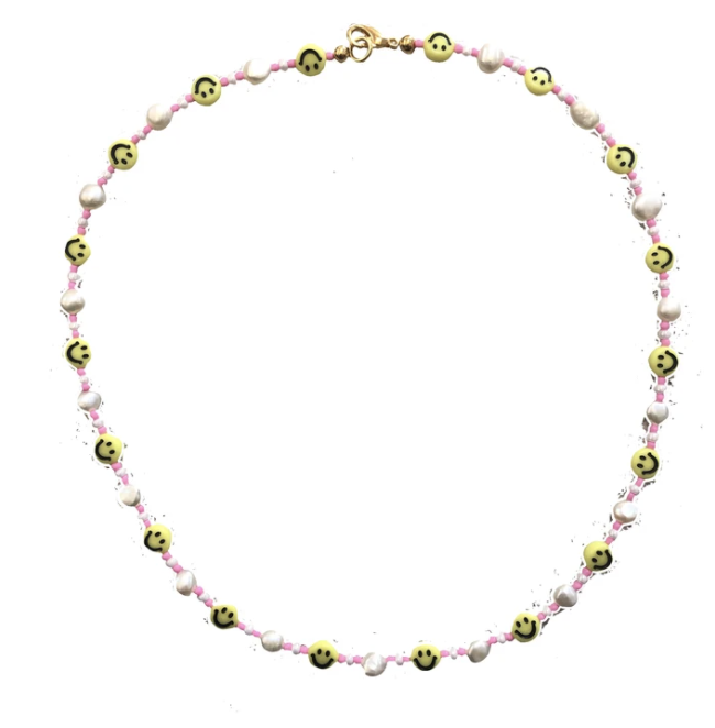 Smiley Pearl Necklace