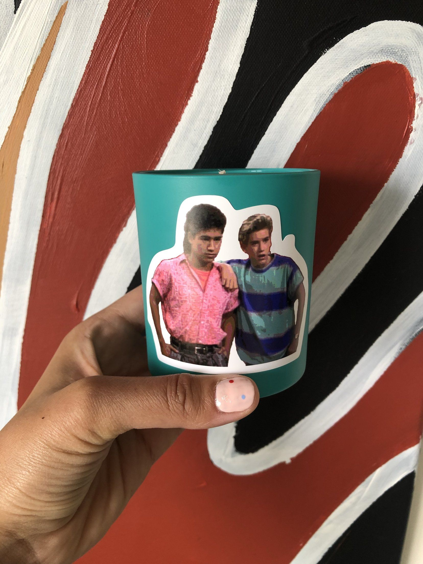'Saved by the bell' Candle